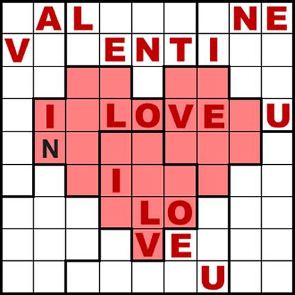 photo regarding Irregular Sudoku Printable named Valentine Sudoku - Centre Puzzle #1 - Situation Edition